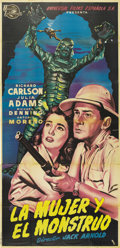"""Movie Posters:Horror, Creature From the Black Lagoon (Universal International, 1954).Spanish Poster (39"""" X 82""""). The last of the classic Universa..."""