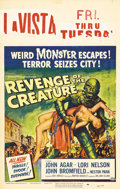 "Movie Posters:Science Fiction, Revenge Of The Creature (Universal, 1955). Window Card (14"" X 22"").The first sequel to ""The Creature from the Black Lagoon""..."