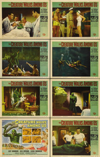 """The Creature Walks Among Us (Universal, 1956). Lobby Card Set of 8 (11"""" X 14""""). The third """"Creature""""..."""