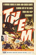 "Movie Posters:Science Fiction, Them (Warner Brothers, 1954). One Sheet (27"" X 41""). JamesWhitmore, Edmund Gwenn, Joan Weldon and James Arness headlinethi..."