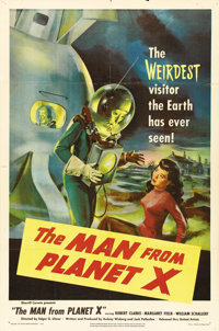 "The Man from Planet X (United Artists, 1951). One Sheet (27"" X 41""). A British contribution to the science-fic..."