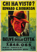 """Movie Posters:Crime, Bullets or Ballots (Warner Brothers, 1936). Italian 4 - Folio (55""""X 78""""). This is an Italian release poster for one of Edwa..."""