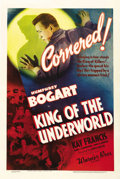 "Movie Posters:Crime, King of the Underworld (Warner Brothers, 1939). One Sheet (27"" X41""). Classic image of Bogart as gangster, with four more i..."