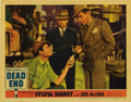 "Movie Posters:Crime, Dead End (United Artists, 1937). Lobby Card (11"" X 14""). Thisscarce original issue card features a great closeup of Joel Mc..."