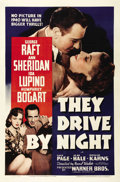 "Movie Posters:Drama, They Drive By Night (Warner Brothers, 1940). One Sheet (27"" X 41"").Humphrey Bogart, George Raft, Ann Sheridan and Ida Lupin..."