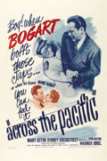 "Movie Posters:War, Across the Pacific (Warner Brothers, 1942). One Sheet (27"" X 41"").Humphrey Bogart does his bit for the World War II Allied ..."