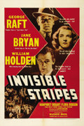 """Movie Posters:Crime, Invisible Stripes (Warner Brothers, 1939). One Sheet (27"""" X 41"""").Directed by Lloyd Bacon (""""The Oklahoma Kid""""), this crime d..."""