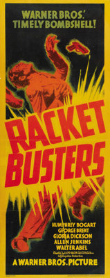 """Racket Busters (Warner Brothers, 1938). Insert (14"""" X 36""""). Humphrey Bogart stars in an early role that helped..."""