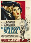 "Movie Posters:Drama, The Barefoot Contessa (United Artists, 1954). Italian 4 - Folio(55"" X 78""). This dramatic image of Humphrey Bogart and Ava ..."