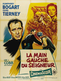 """The Left Hand of God (20th Century Fox, 1955). French Grande (47"""" X 63""""). In this tale set during WWII, Humphr..."""