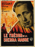 "Movie Posters:Drama, Treasure of the Sierra Madre (Warner Brothers, 1948). French Petite(23.5"" X 31.5""). Humphrey Bogart received an Oscar nomin..."