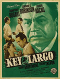 "Movie Posters:Film Noir, Key Largo (Warner Brothers, 1948). French Petite (23.5"" X 31.5"").Edward G. Robinson dominates this French petite poster for..."