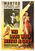 """Movie Posters:Crime, The Lone Wolf Meets a Lady (Columbia, 1940). One Sheet (27"""" X 41"""").This is considered to be one of the best entries in this..."""
