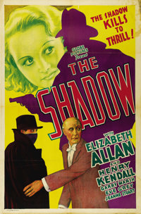 "The Shadow (United Artists, 1933). One Sheet (27"" X 41""). Not Lamont Cranston and not ""Who knows what evi..."
