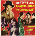 "Movie Posters:Mystery, The Chinese Cat (Monogram, 1944). Six Sheet (81"" X 81""). Thisscarce six sheet features great images of Sidney Toler, Mantan..."
