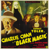 "Black Magic (1944) (Monogram, 1944). Six Sheet (81"" X 81""). Sidney Toler as Charlie Chan makes an interesting..."