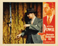 "Movie Posters:Crime, Private Detective 62 (Warner Brothers, 1933). Lobby Card (11"" X14""). William Powell, in a classic scene from his hit crime ..."