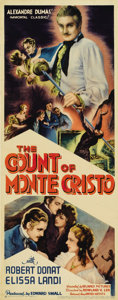 "Movie Posters:Adventure, The Count of Monte Cristo (United Artists, 1934). Insert (14"" X36""). Alexandre Dumas' classic adventure story was brought t..."