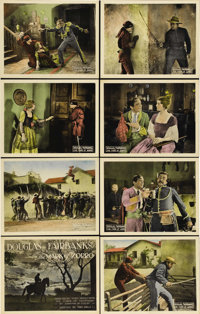 "The Mark of Zorro (United Artists, 1920). Lobby Card Set of 8 (11"" X 14""). In the late summer of 1919, readers..."