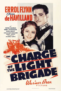 """The Charge of the Light Brigade (Warner Brothers, 1936). One Sheet (27"""" X 41""""). Errol Flynn and Olivia de Havi..."""