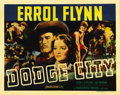 "Movie Posters:Western, Dodge City (Warner Brothers, 1938). Half Sheet (22"" X 28"").Heritage is proud to offer this incredibly beautiful half sheet ..."