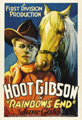 "Movie Posters:Western, Rainbow's End (First Division Production, 1935). One Sheet (27"" X41""). Edmund ""Hoot"" Gibson stars in this tale about a ranc..."