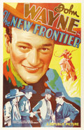 "Movie Posters:Western, The New Frontier (Republic, 1935). One Sheet (27"" X 41""). The storyof a wild frontier town and the man who tamed it, this W..."