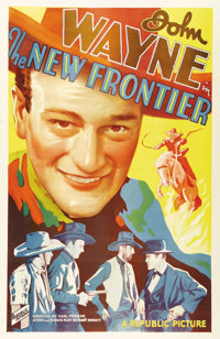 "The New Frontier (Republic, 1935). One Sheet (27"" X 41""). The story of a wild frontier town and the man who ta..."