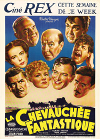 """Stagecoach (United Artists, 1939). Pre-War Belgian (24"""" X 32""""). Rare size for this classic John Ford Western..."""