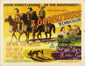 "Movie Posters:Western, Three Godfathers (MGM, 1948). Half Sheet (22"" X 28"") Style B. Some great Western images of John Wayne, Pedro Armendariz and ..."
