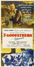 "Movie Posters:Western, Three Godfathers (MGM, 1948). Three Sheet (41"" X 81""). John Ford directed John Wayne in this version of the Peter Kyne story..."