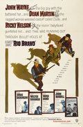 "Movie Posters:Western, Rio Bravo (Warner Brothers, 1959). One Sheet (27"" X 41""). JohnWayne, in all his swaggering glory, stars in this Howard Hawk..."