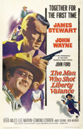 """Movie Posters:Western, The Man Who Shot Liberty Valence (Paramount, 1962). One Sheet (27"""" X 41""""). """"When the Legend becomes fact, print the Legend""""..."""