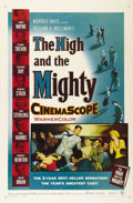 "Movie Posters:Adventure, The High and the Mighty (Warner Brothers, 1954). One Sheet (27"" X41""). John Wayne stars with an all-star cast to create the..."
