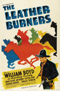 "Movie Posters:Western, The Leather Burners (United Artists, 1943). One Sheet (27"" X 41""). William Boyd first played his most famous role in 1935's ..."