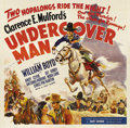 "Movie Posters:Western, Undercover Man (United Artists, 1942). Six Sheet (81"" X 81""). In1942 Paramount Studios stopped production of Western series..."