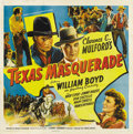 "Movie Posters:Western, Texas Masquerade (United Artists, 1944). Six Sheet (81"" X 81""). If you are a Texan or know a die-hard Texan, could there be ..."