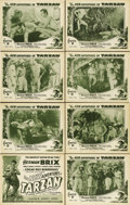 """Movie Posters:Serial, The New Adventures of Tarzan (Burroughs-Tarzan-Enterprise, 1935). Lobby Card Set of 8 (11"""" X 14"""") Chapter 8 -- """"Angry Gods.""""... (Total: 8 Items)"""
