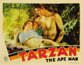 "Movie Posters:Adventure, Tarzan the Ape Man (MGM, 1932). Lobby Card (11"" X 14""). This wasthe first of the Thalberg-era Tarzan series starring Olympi..."