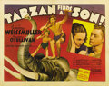 "Movie Posters:Adventure, Tarzan Finds a Son (MGM, 1939). Half Sheet (22"" X 28""). Boy (JohnnySheffield) makes his first appearance in the popular ""Ta..."