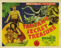 "Movie Posters:Adventure, Tarzan's Secret Treasure (MGM, 1941). Title Lobby Card (11"" X 14"").Although coming along rather late in the cycle, ""Tarzan'..."
