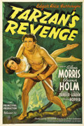 "Movie Posters:Adventure, Tarzan's Revenge (20th Century Fox, 1938). One Sheet (27"" X 41"").Wonderful stone litho artwork of Olympic athletes Glenn Mo..."