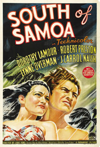 """Typhoon (Paramount, 1940). Australian One Sheet (27"""" X 40""""). Dorothy Lamour stars in this stormy love story se..."""