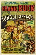 "Movie Posters:Adventure, Jungle Menace (Columbia, 1937). One Sheet (27"" X 41""). When ClydeBeatty's serial ""Darkest Africa"" became a hit, Columbia wa..."