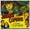 "Movie Posters:Horror, The Jungle Captive (Universal, 1945). Six Sheet (81"" X 81""). Thiswas the third installment in Universal's ""Ape Woman"" trilo..."