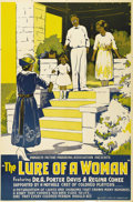"Movie Posters:Black Films, The Lure of a Woman (Progress Picture Producing Assoc., 1921). OneSheet (27"" X 41""). An early all black film produced by Pr..."