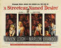 "Movie Posters:Drama, A Streetcar Named Desire (Warner Brothers, 1951). Half Sheet (22"" X28""). This is the rare other style half sheet that has d..."