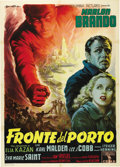 "Movie Posters:Drama, On the Waterfront (Columbia, 1954). Italian 2 - Folio (39"" X 55"").This original release Italian poster features Anselmo Ba..."