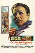 "Movie Posters:Drama, On the Waterfront (Columbia, 1954). One Sheet (27"" X 41""). EliaKazan and Budd Schulberg's film of corruption on the New Jer..."