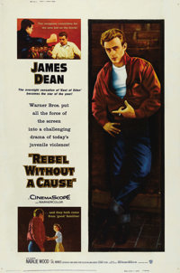 """Rebel Without a Cause (Warner Brothers, 1955). Poster (40"""" X 60"""") Style Y. Without a doubt one of the most ico..."""